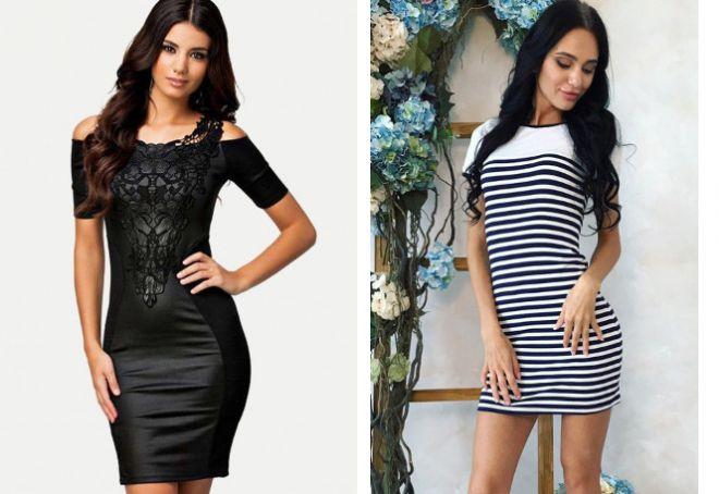 Короткие легкие платья прилегающее