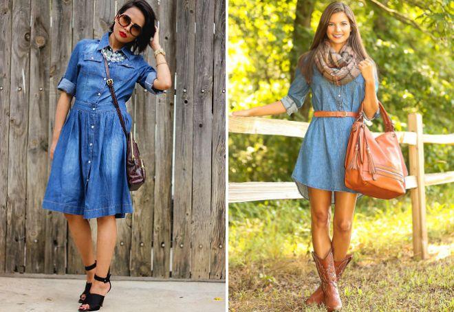Легкое джинсовое платье