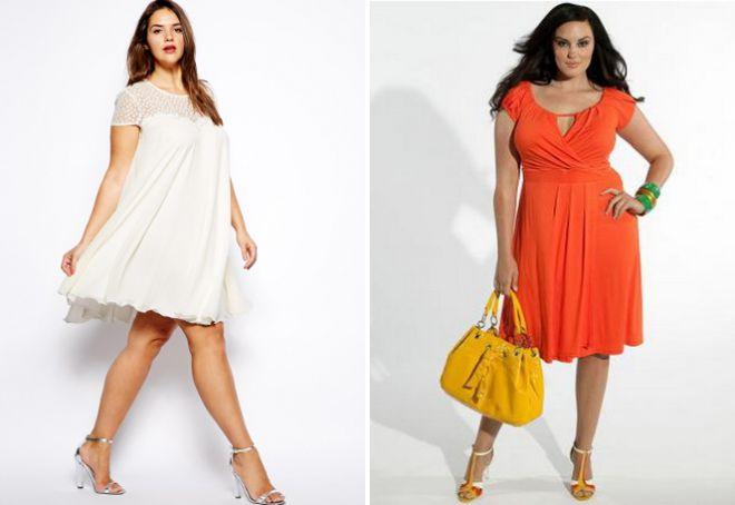 Легкие платья для полных женщин