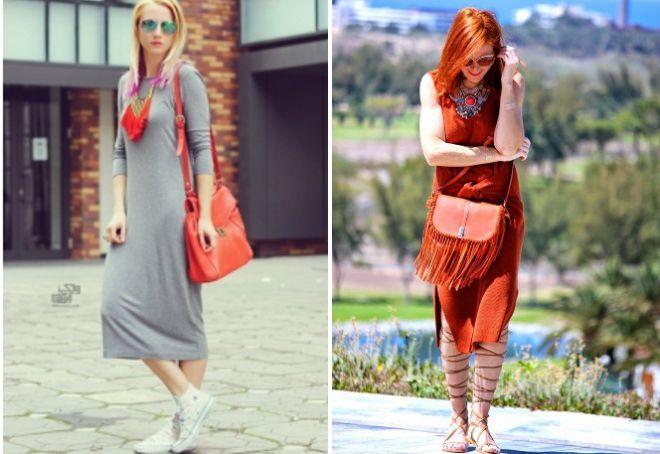 Легкие платья миди