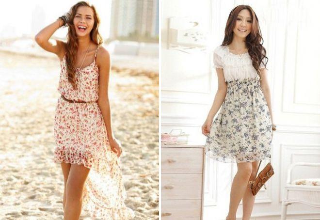 Короткие легкие платья