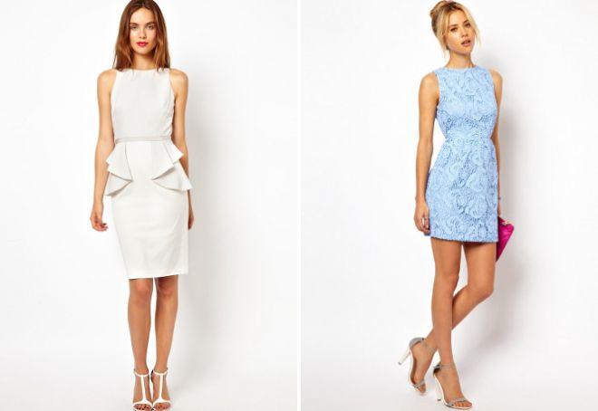 Короткие легкие платья футляр
