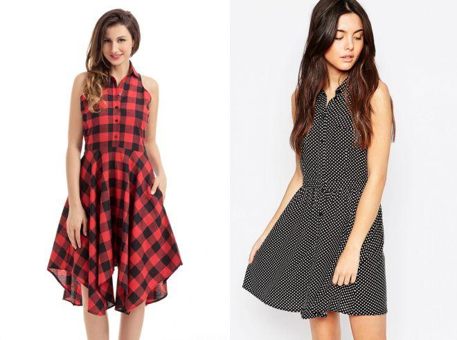 модные летние платья рубашки