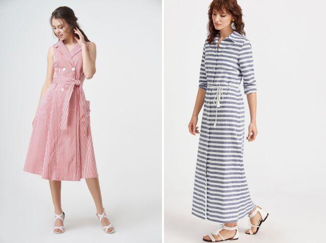 модные платья рубашки 2018