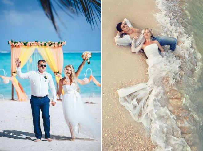 e49b294f5021c29 Красивые пляжные свадебные платья – легкое, летнее, в пол, короткое ...