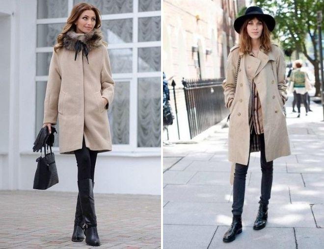 какую обувь носить с пальто миди