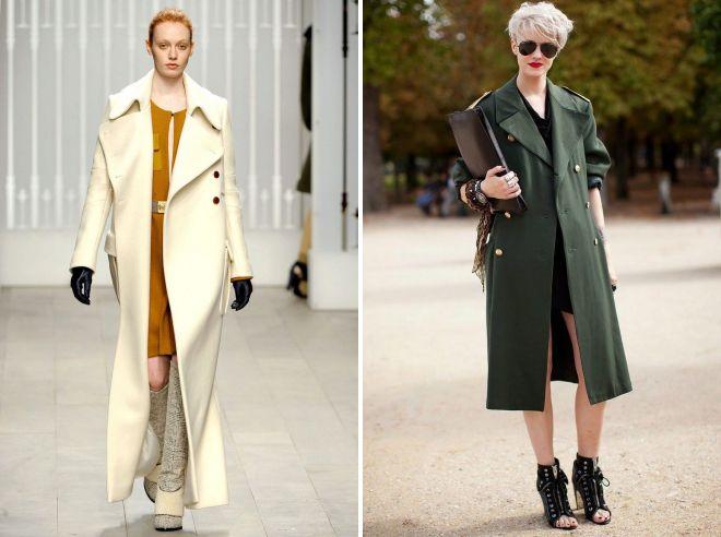 какую обувь носить под стильные пальто