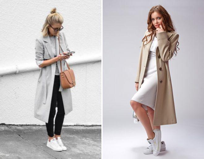 обувь под серое пальто