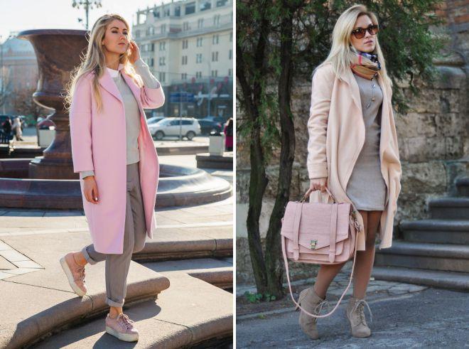 обувь под розовое пальто