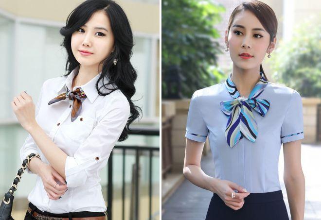 шейный платок и блузка