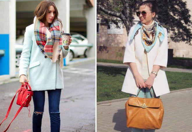 шейный платок под пальто