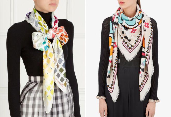 модные шейные платки 2018
