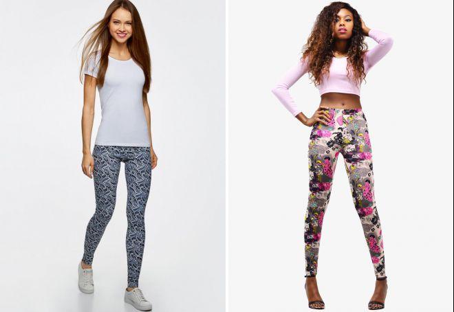 узкие трикотажные брюки