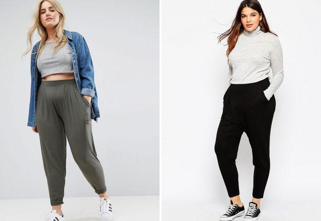 трикотажные брюки для полных