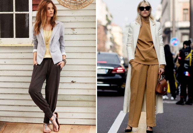 модные женские трикотажные брюки