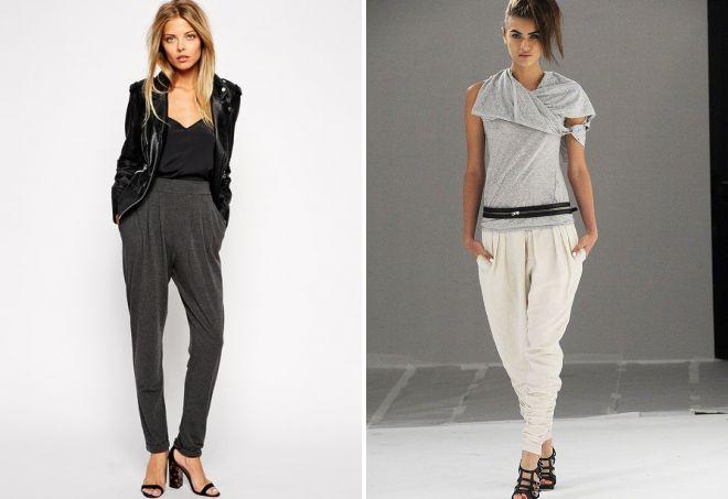 женские брюки из трикотажа