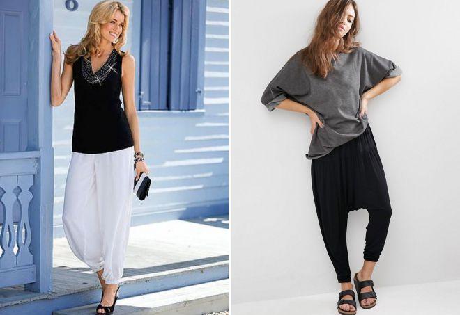 модные трикотажные брюки