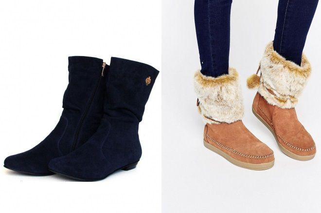 мягкие замшевые ботинки