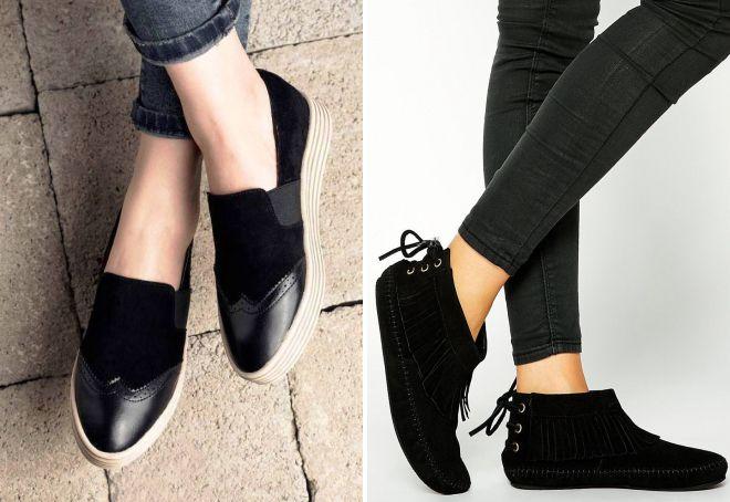 низкие замшевые ботинки
