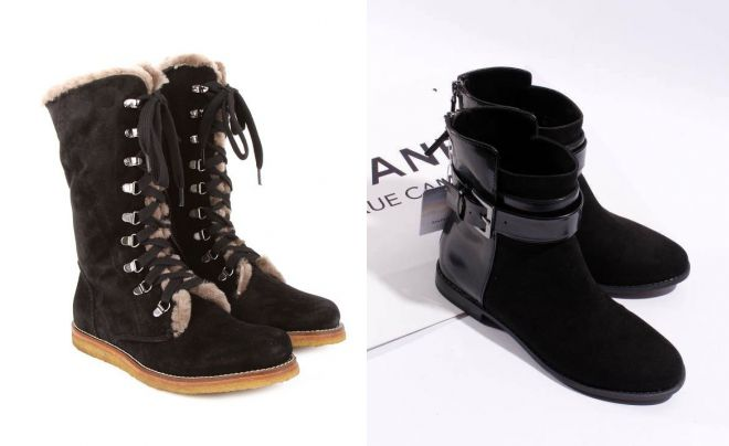 высокие замшевые ботинки