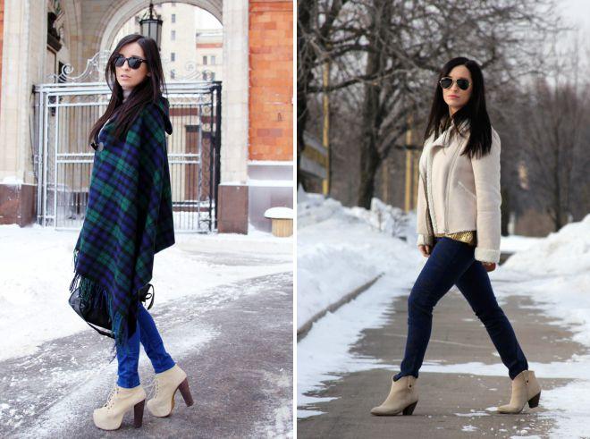 зимние женские замшевые ботинки