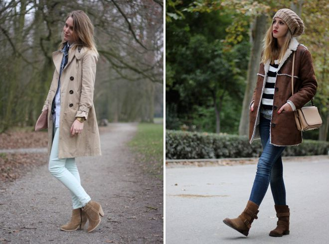 женские замшевые демисезонные ботинки