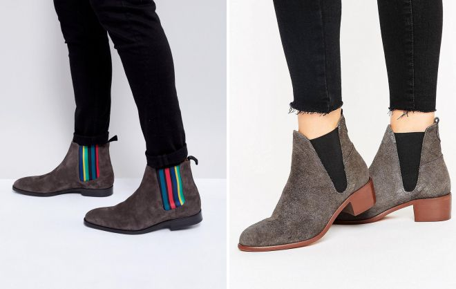 замшевые ботинки челси