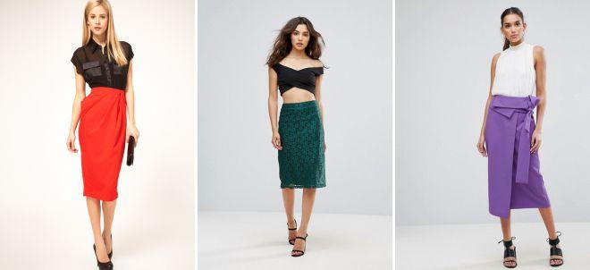 классическая юбка с завышенной талией