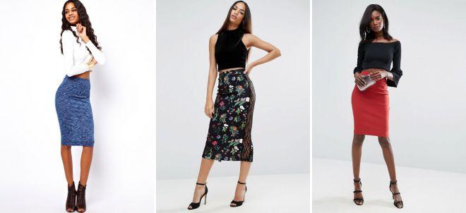 прямая классическая юбка