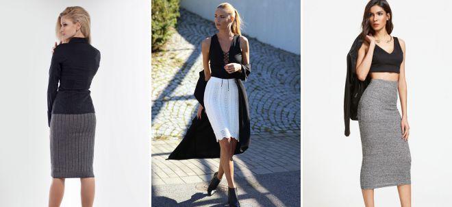модные классические юбки 2018