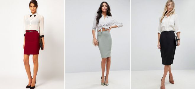 с чем носить классическую юбку