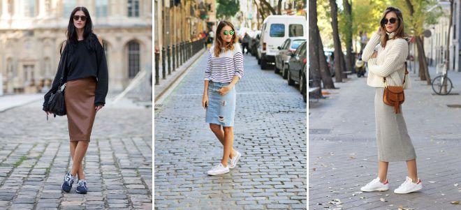 классический стиль юбки