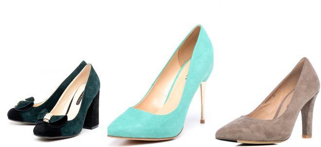 женские классические туфли лодочки на каблуке