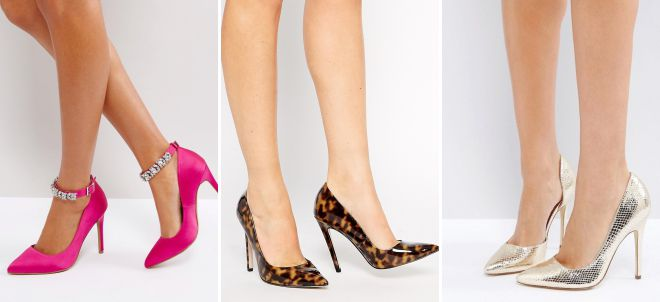 женские классические туфли на шпильке