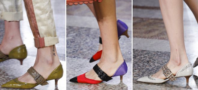 классические туфли на низком каблуке