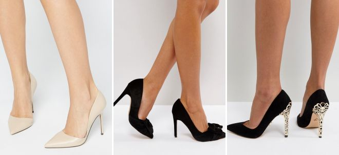 женские черные классические туфли
