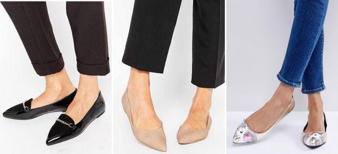 женские классические туфли без каблука