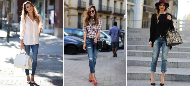 джинсы с классическими туфлями
