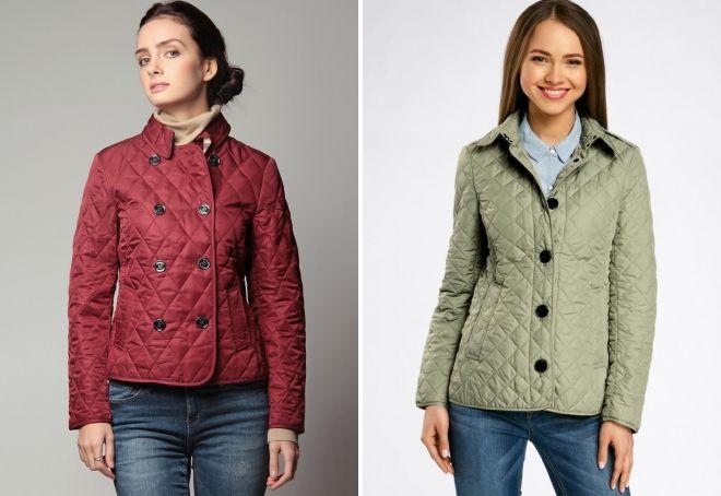 женская легкая стеганая куртка