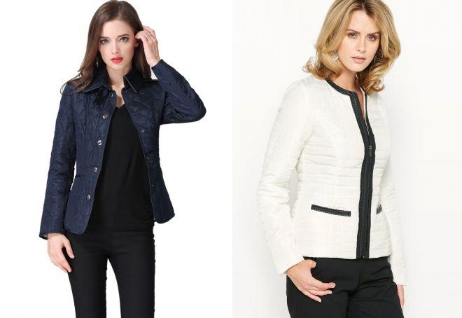 женская стеганая куртка пиджак