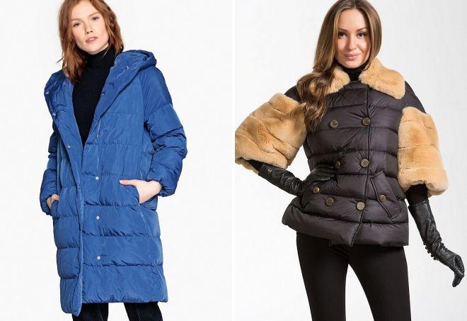 зимняя женская стеганая куртка