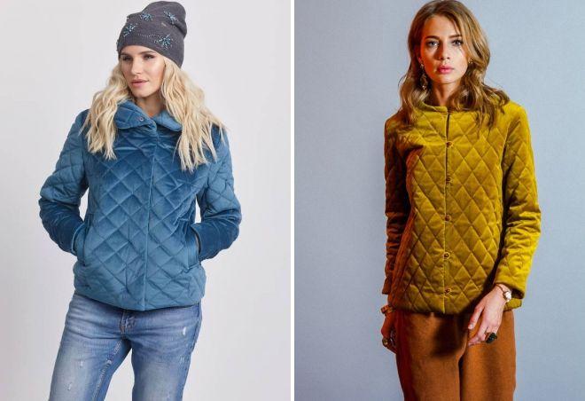 женская стеганая осенняя куртка