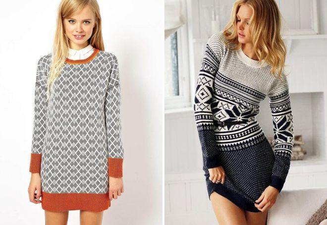 97a3856bfef Вязаное платье-свитер – 2018 2019
