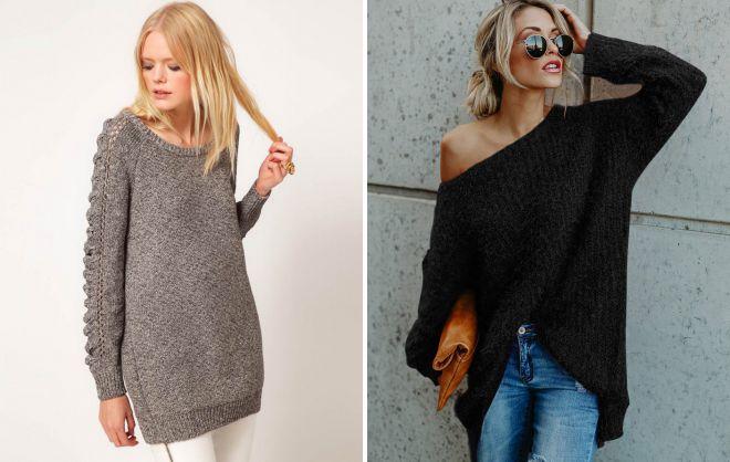 длинные широкие свитера