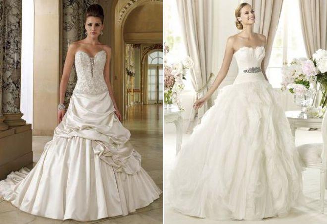 самые красивые свадебные платья пышные