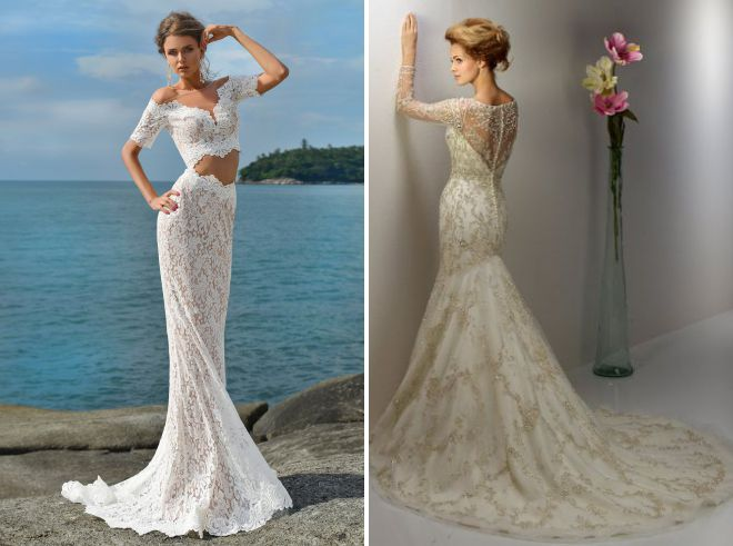 девушка в красивом свадебном платье
