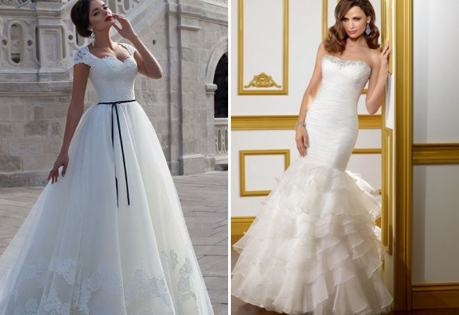 красивые свадебные платья с корсетом