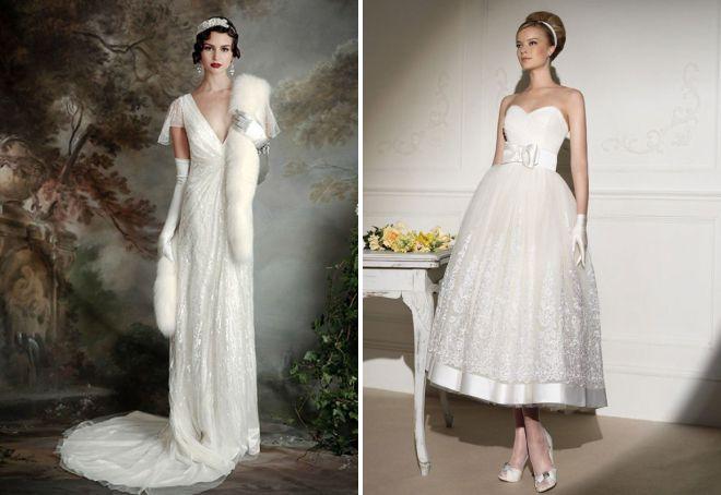 красивые свадебные платья в стиле ретро