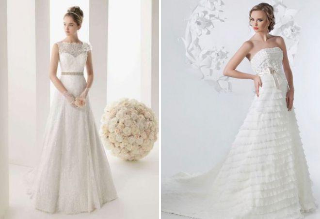 красивые свадебные платья а силуэта