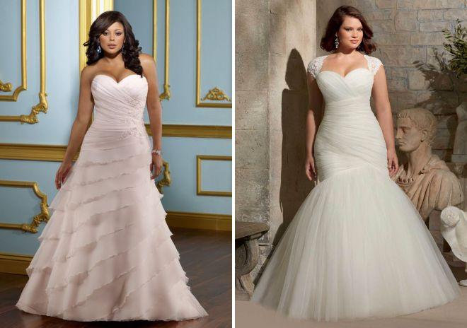 красивые свадебные платья для полных